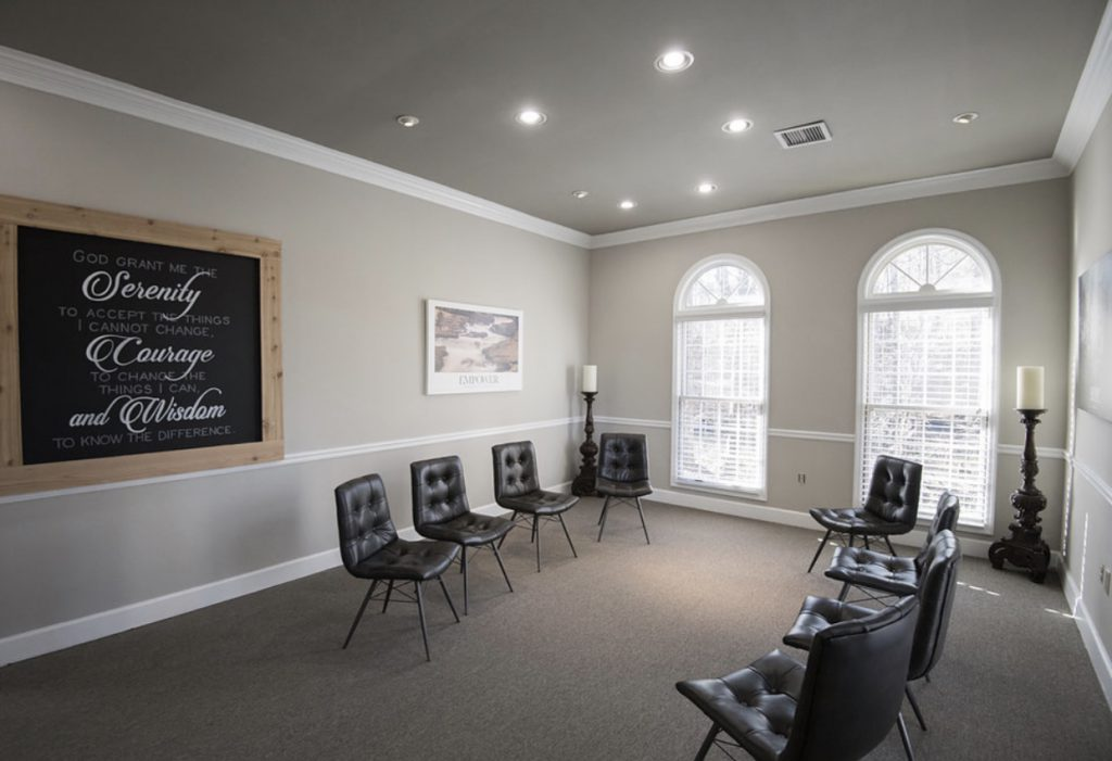Group Therapy Room at Treatment Center